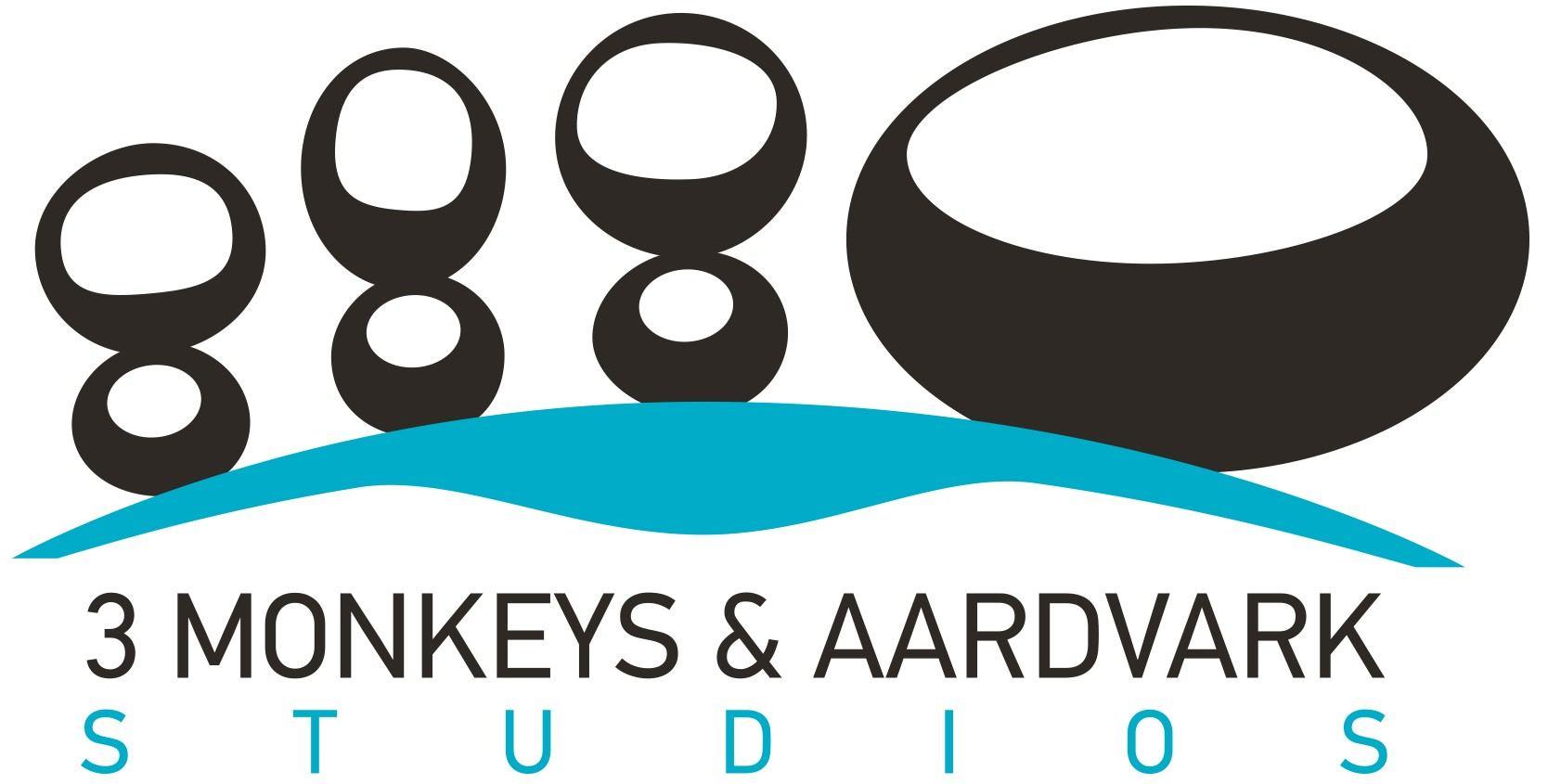 3 Monkeys & Aardvark Studios Logo