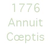 1776 - Annuit Cœptis Logo