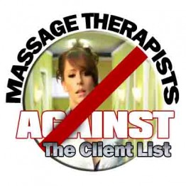 Massage Therapists Against The Client list Logo