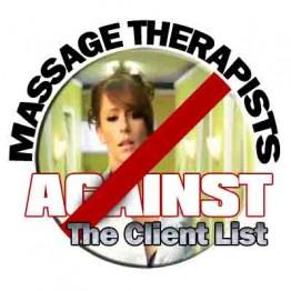Massage Therapists Against The Client list Logo