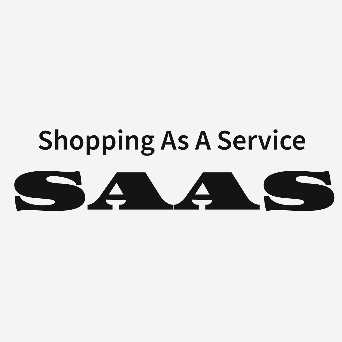 Shopping As A Service (SAAS) Logo