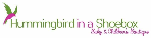 Hummingbird in a Shoebox Children's Boutique Logo