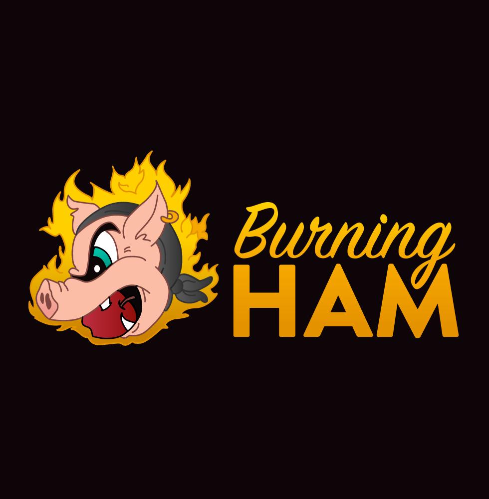 Burning Ham Logo