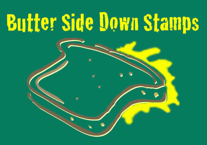 Butter side down stamps profiled in rubber stamp madness Which side does a stamp go on