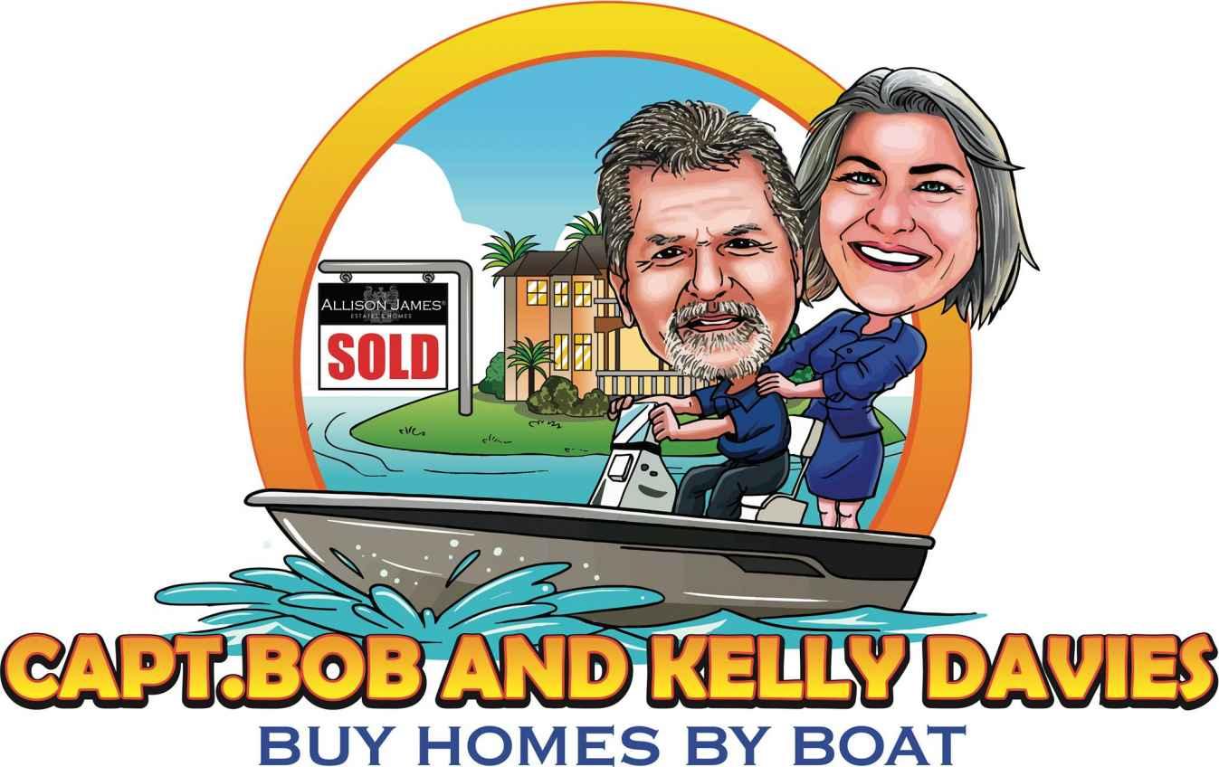 Capt. Bob & Kelly Davies - Buy Homes By Boat Logo