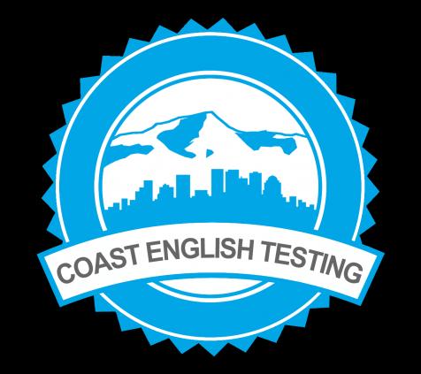 Coast English Testing Logo