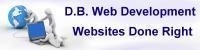 D.B. Web Development Logo