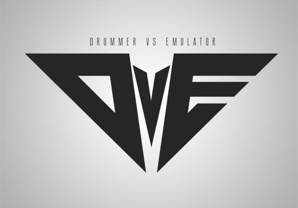 DvE - Drummer Vs Emulator Logo