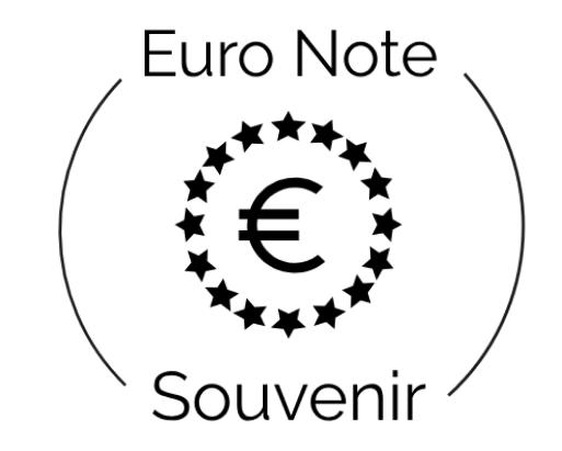 Euro Note Souvenir Logo