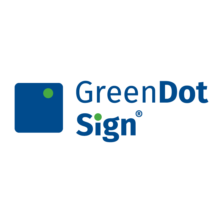 Green Dot Sign Logo