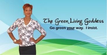 The Green Living Goddess Logo