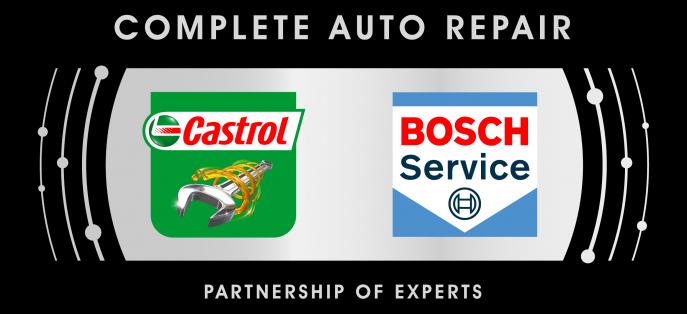 JB Import, Castrol Bosch Complete Auto Repair Logo