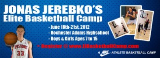 Jonas Jerebko's Elite Basketball Camp Logo