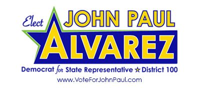 John Paul Alvarez for State Representative HD 100 Logo