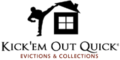 Kick'em Out Quick Evictions & Collections Logo