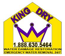 King Dry Water Damage Restoration Logo