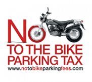NO TO BIKE PARKING FEES Logo
