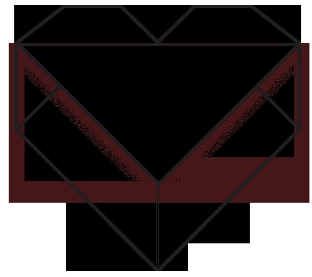 Origami Heart Clothing Logo