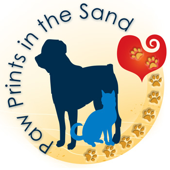Paw Prints in the Sand Animal Rescue Logo