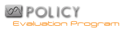 Policy Evaluation Program Logo