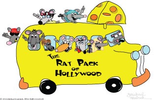The Rat Pack of Hollywood Logo