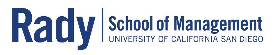 RADY SCHOOL OF MANAGEMENT Logo