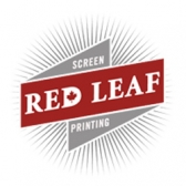 Red Leaf Screen Printing Logo