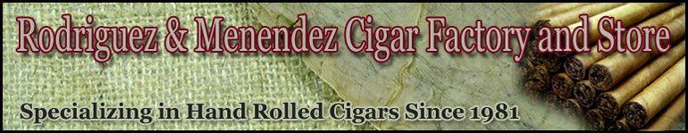 Rodriguez & Menendez Cigar Factory & Store Logo