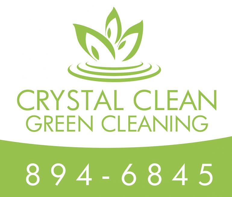 Crystal Clean Green Cleaning Logo