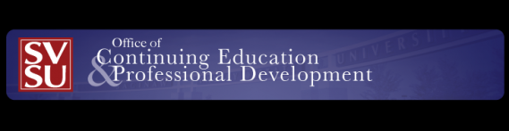 SVSU Office of Continuing Ed and Professional Dev Logo