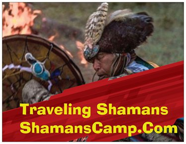 Shamans Camp - Julia Widdop Logo