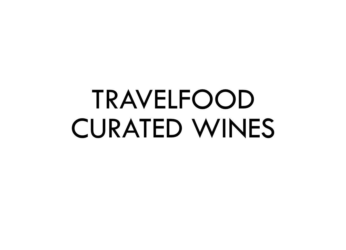 Travelfood Curated Wines Logo