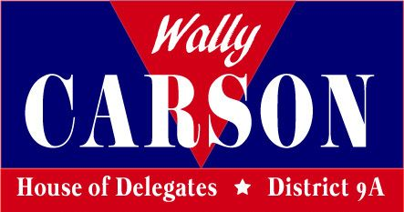Wally Carson for House of Delegates - District 9A Logo