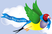 Word Bird Delivers Logo