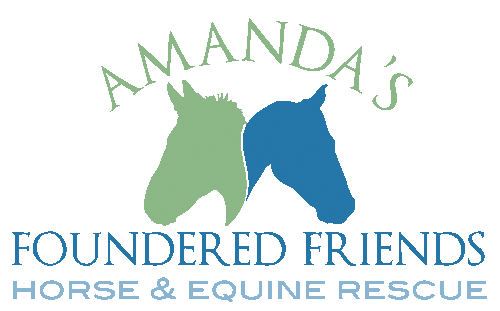 Amanda's Foundered Friends Horse and Equine Rescue Logo