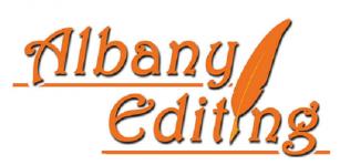 albanyediting Logo