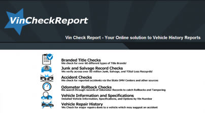 Free Vehicle History Report Online >> New Site For Free Vin Check Information Vehicle History Reports