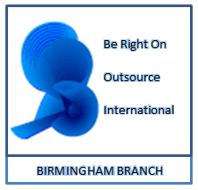 Be Right On Outsource Birmingham Logo