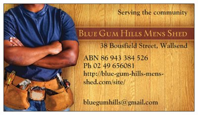 Blue Gum Hills Mens Shed Logo