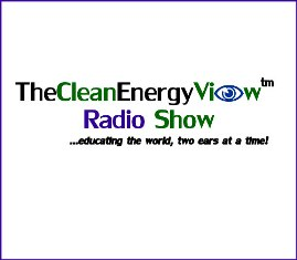 The Clean Energy View Radio Show Logo