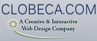 CLOBECA.COM Web Design Logo