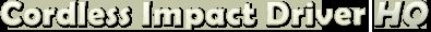 cordlessimpactdriver Logo