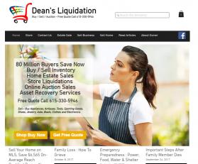Dean's Liquidation Logo