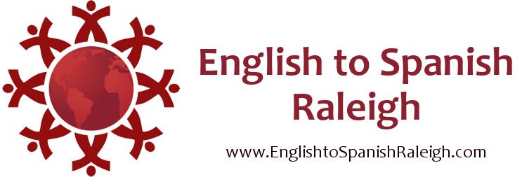 English to Spanish Raleigh Logo