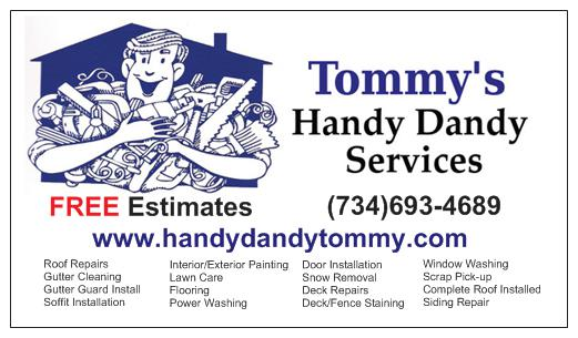 Tommy' Handy Dandy Services Logo