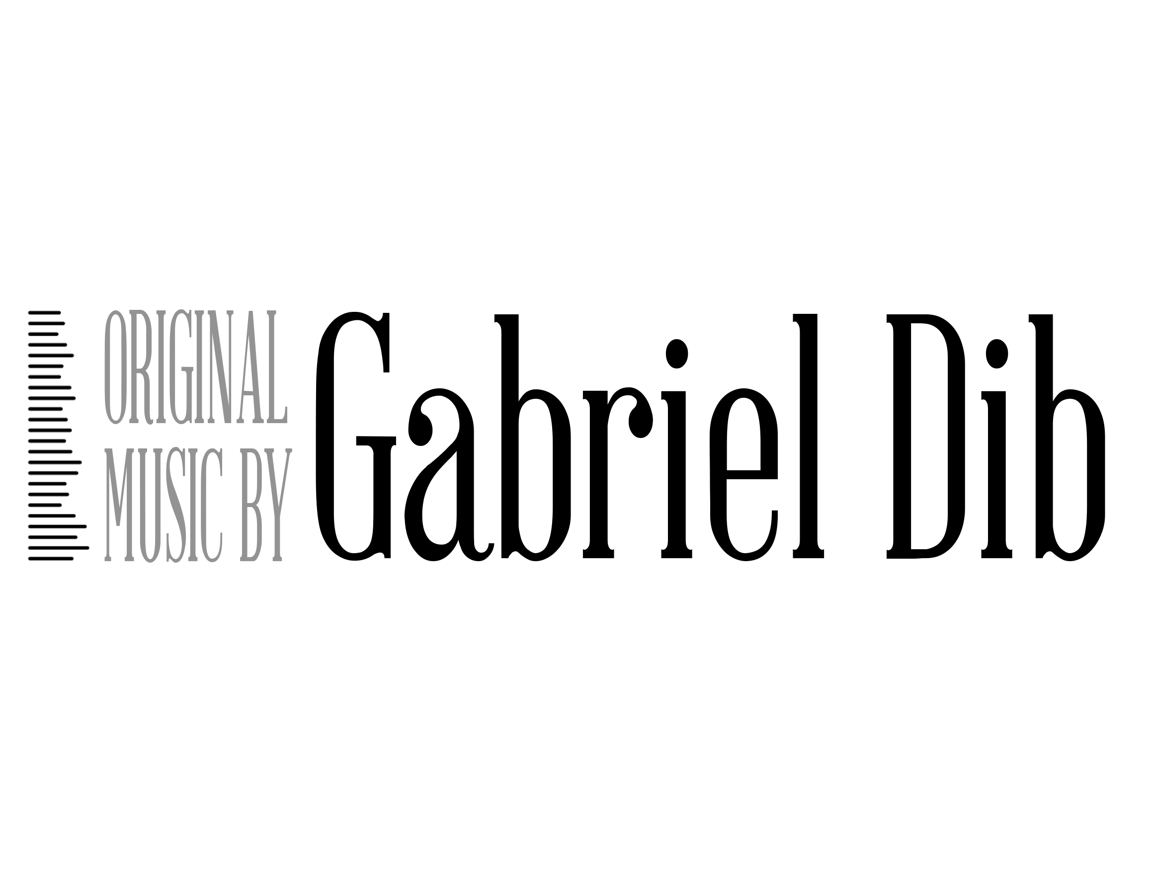 Original Music by Gabriel Dib Logo