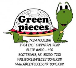 greenpiecescartoons Logo