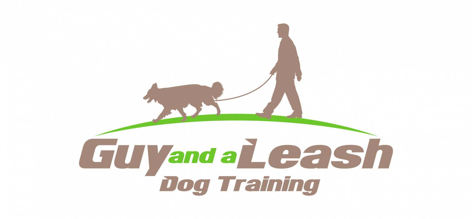 Guy and a Leash Dog Training Logo