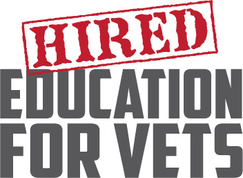 Hired Education for Vets Logo