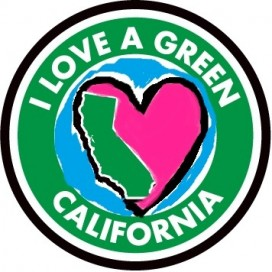 I Love A Green California Logo